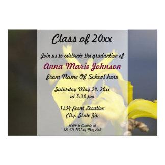 Invitation florale d obtention du diplôme de resso