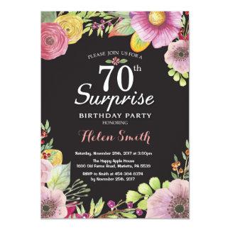 Invitation florale d'anniversaire de surprise