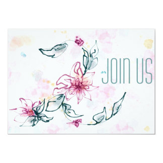 Invitation florale d'aquarelle