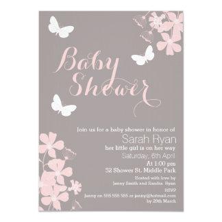 Invitation florale de baby shower de filles de