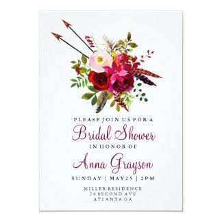 Invitation florale de Bridalshower d'aquarelle de