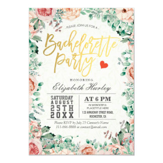 Invitation florale de partie de Bachelorette
