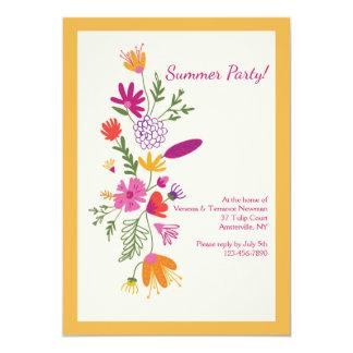 Invitation florale d'impression