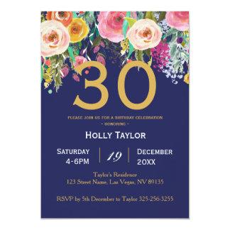 Invitation florale et 30ème d'anniversaire d'or