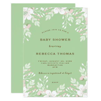 invitation florale moderne de baby shower de