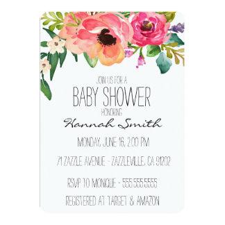 Invitation florale unique de baby shower de Boho