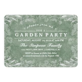 Invitation florale verte et blanche de réception