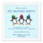 Invitation fraîche de partie de patinage de glace