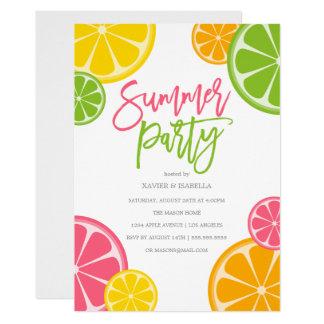 Invitation fraîchement serrée de partie d'été de |