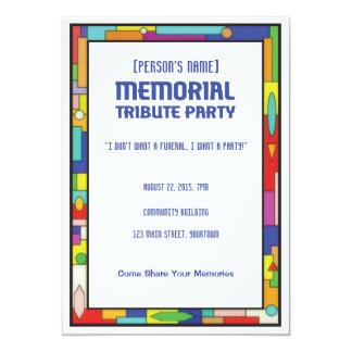 Invitation funèbre de partie d'hommage