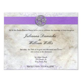 Invitation gaélique irlandais celtique de mariage carton d'invitation 10,79 cm x 13,97 cm
