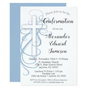 Invitation Garcon Bleu Blanc D Invitation De Confirmation De