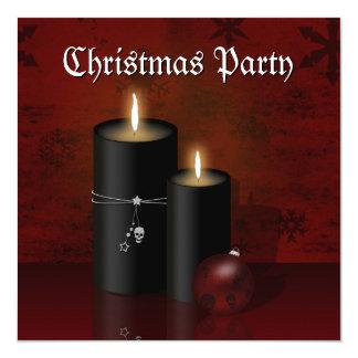 Invitation gothique de fête de Noël