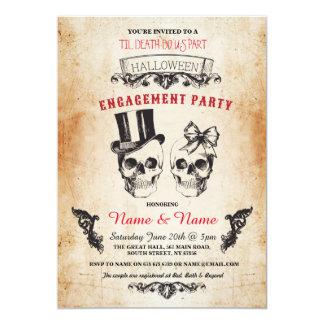 Invitation gothique de Halloween de partie de