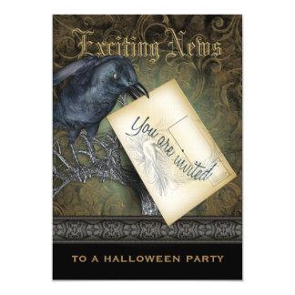 Invitation gothique de partie de corneille noire