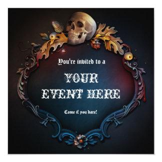 Invitation gothique de partie de Halloween