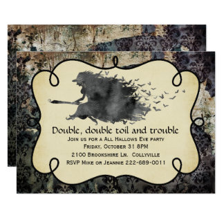 Invitation gothique de partie de Halloween de
