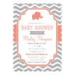 Invitation gris de corail de baby shower