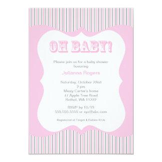 Invitation grise de baby shower de fille de roses