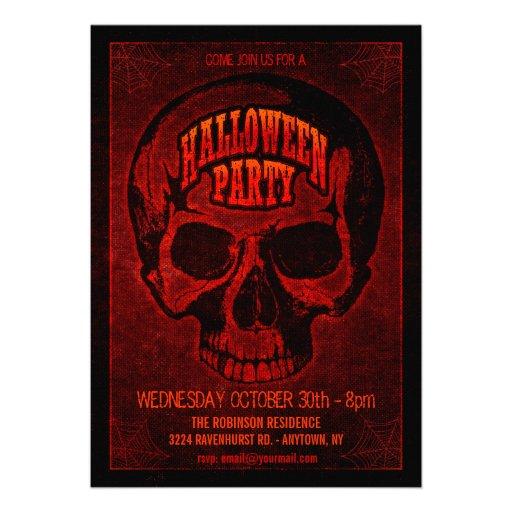 Invitation grunge foncé de partie de Halloween de