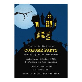 Invitation hantée de Halloween de maison