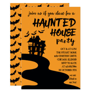 Invitation hantée de partie de Halloween de