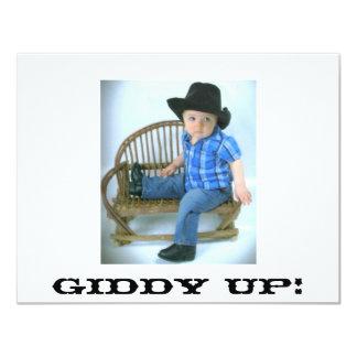 Invitation haute étourdie de cowboy