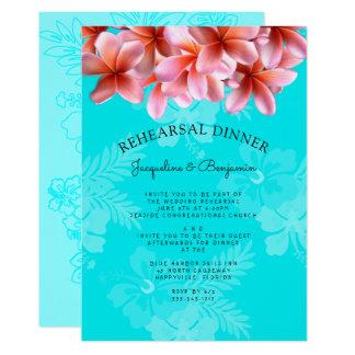 Invitation hawaïenne de dîner de répétition de