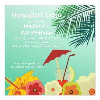 Invitation hawaïenne de fête d anniversaire de Lua