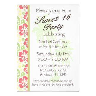 Invitation hawaïenne de fête d'anniversaire du