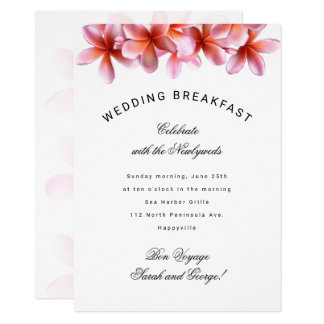 Invitation hawaïenne de petit déjeuner de mariage