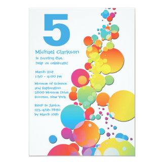 Invitation heureuse de fête d'anniversaire de carton d'invitation  12,7 cm x 17,78 cm