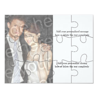 invitation horizontal de la photo 12pc de puzzle