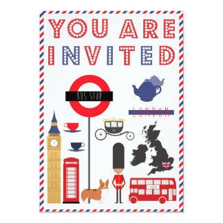 Invitation iconique de voyage de Custon Londres