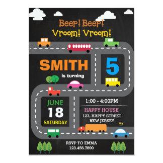 Invitation imprimable d'anniversaire de transport