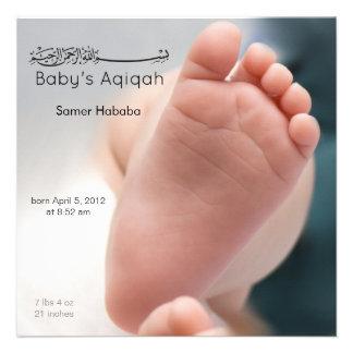 Invitation islamique de naissance d'aqiqah de pied