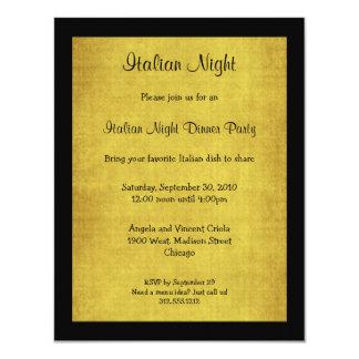 Invitation italien de partie de nuit d'arrière -