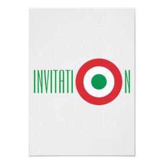 Invitation italienne carton d'invitation  12,7 cm x 17,78 cm