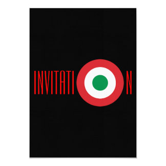 Invitation italienne personnalisée