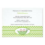 Invitation jumel de baby shower de Chevron de Carton D'invitation 12,7 Cm X 17,78 Cm