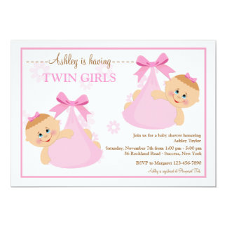 Invitation jumelle de baby shower de paquets de