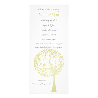 Invitation légère de baby shower d arbre fleurissa