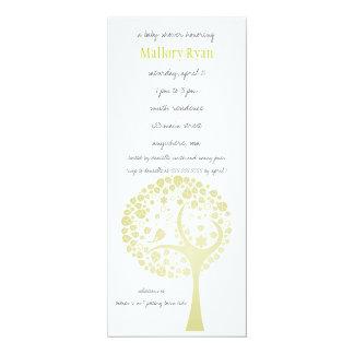 Invitation légère de baby shower d'arbre