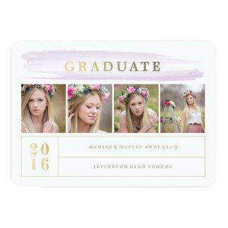 Invitation lilas d'obtention du diplôme de course
