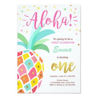 Invitation Luau tropical Hawaï d'anniversaire
