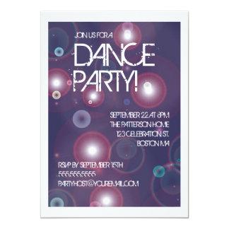 Invitation lumineuse de soirée dansante de carton d'invitation  12,7 cm x 17,78 cm