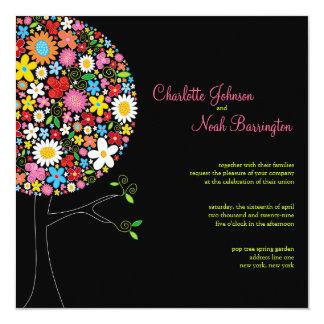 Invitation lunatique de mariage d'arbre de bruit carton d'invitation  13,33 cm