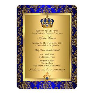 Invitation majestueux de baptême de couronne de