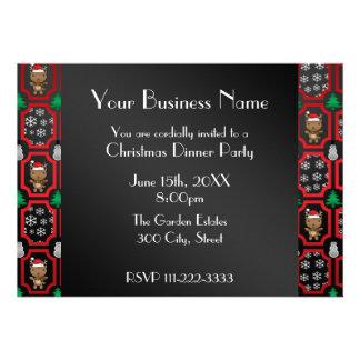 Invitation marocaine d affaires de renne de Noël