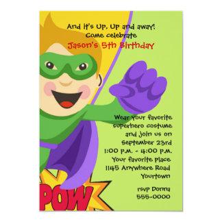Invitation masquée d'anniversaire de super héros